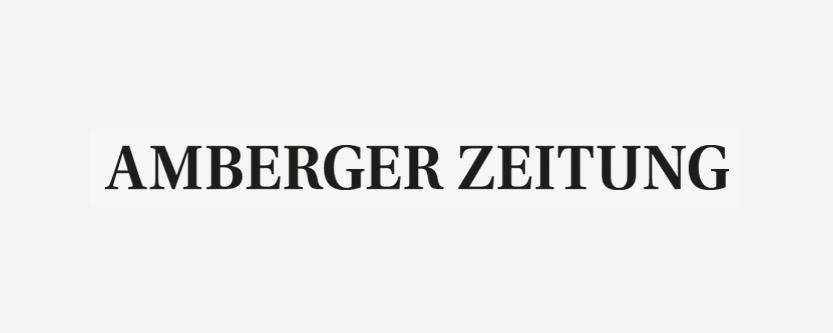 Schwarzes Logo der Amberger Zeitung.