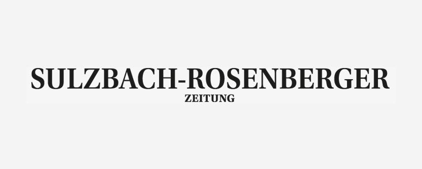 Schwarzes Logo der Sulzbach-Rosenberger Zeitung.