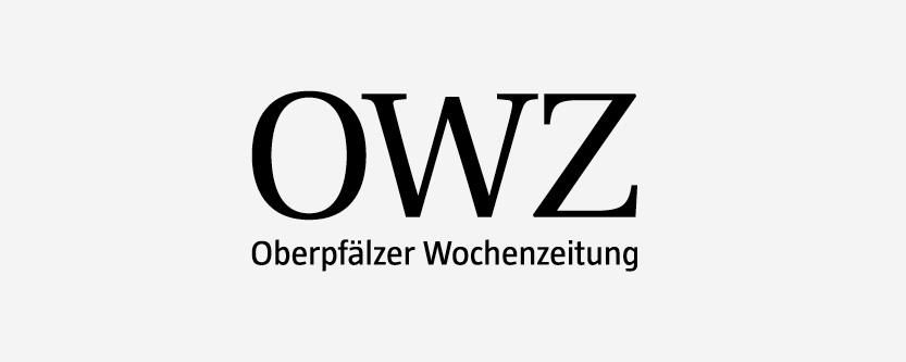 Schwarzes Logo der OWZ – Oberpfälzer Wochenzeitung.