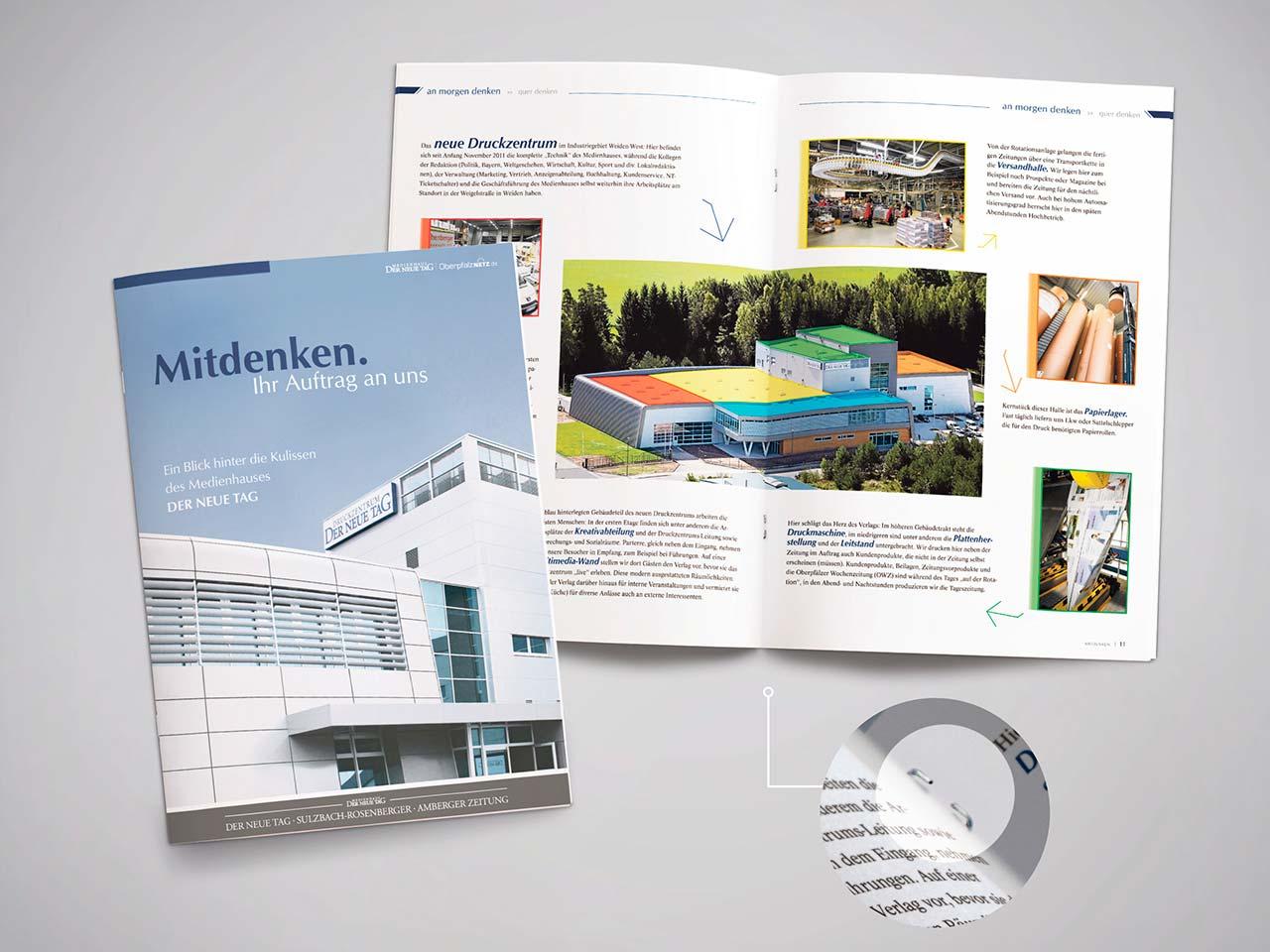 Verlagsbeilage in Din A4 aus dem Druck von Oberpfalz Medien.