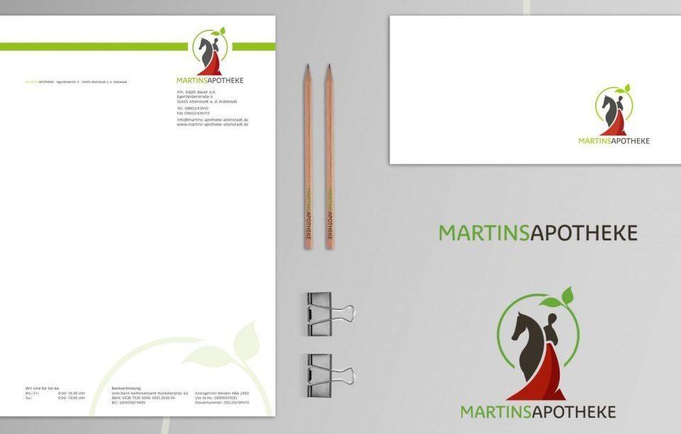 Produkte im Design der Martins Apotheke
