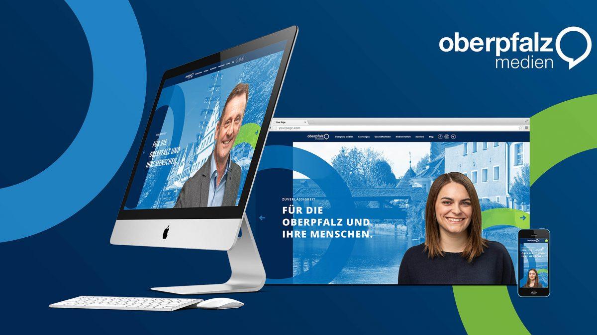 Mock-up zur neuen Oberpfalz-Medien-Website