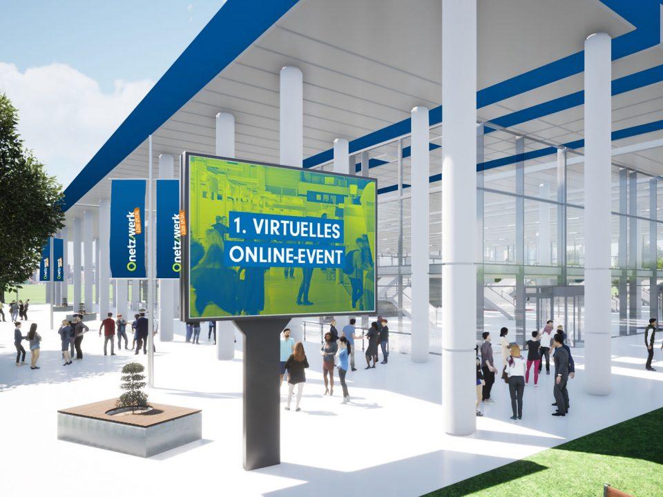 Eingang virtuelle Messehalle Onetzwerk