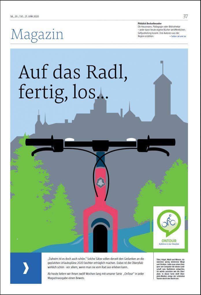 Titelseite Magazin Fahrradgrafik