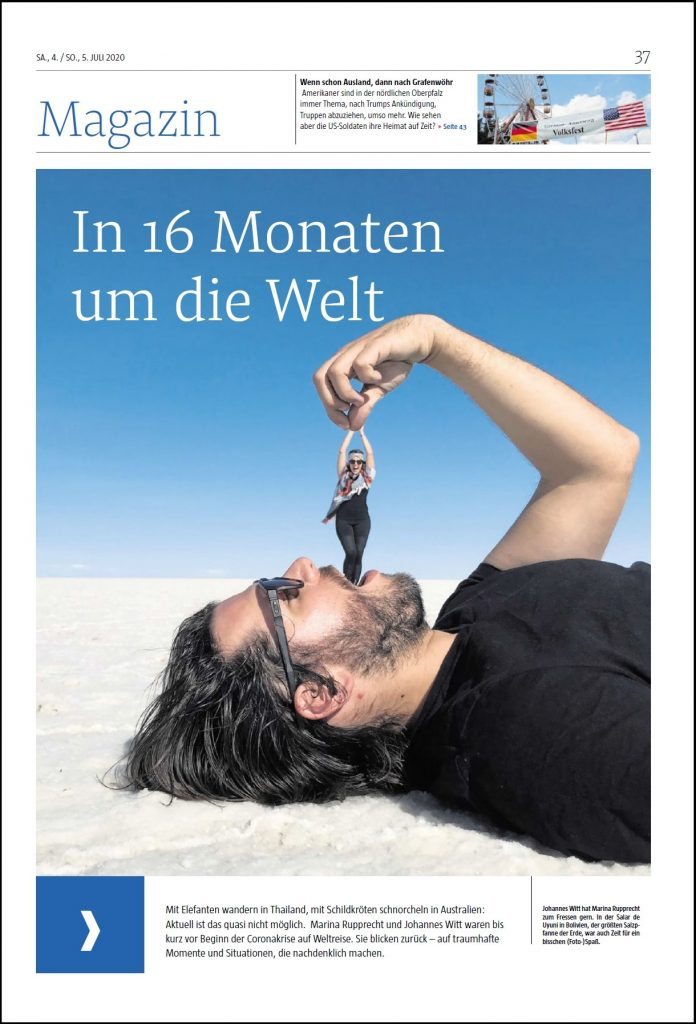 Titelseite Magazin Weltreise