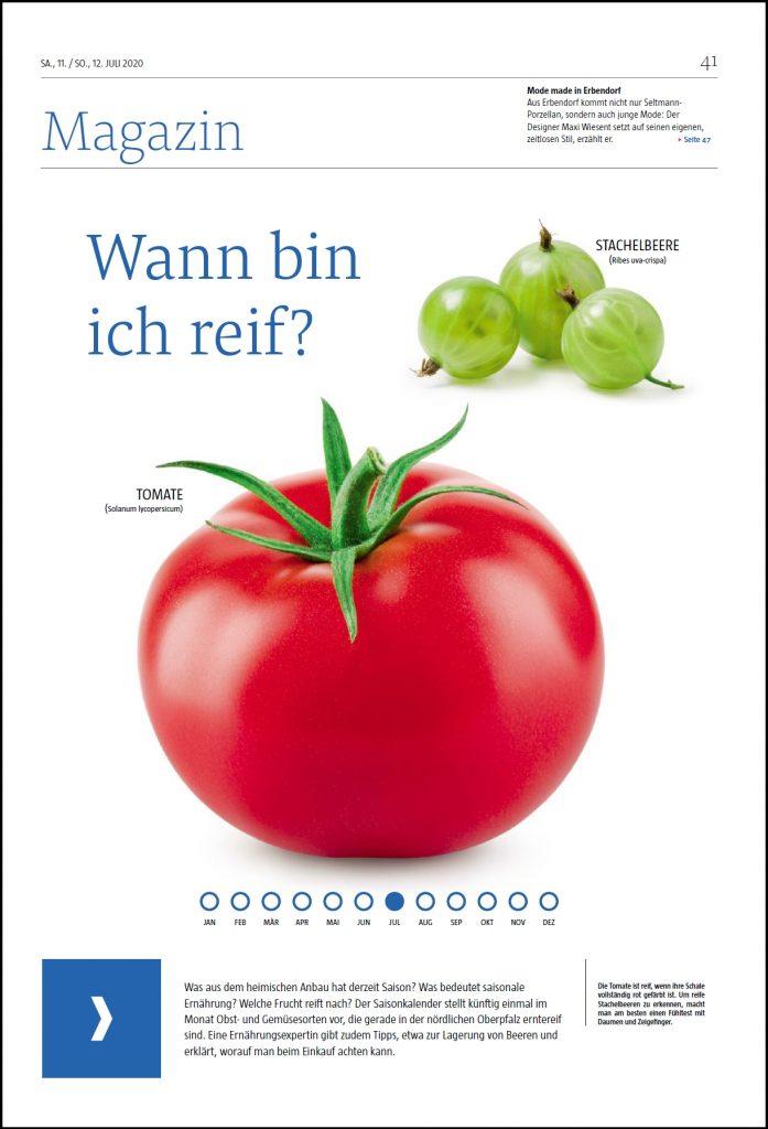 Titelseite Magazin Gemüse Reifegrad