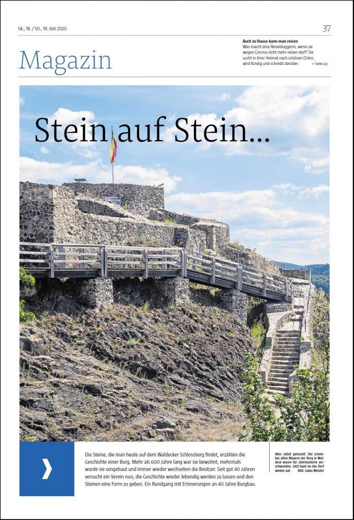 Titelseite Magazin Stein auf Stein