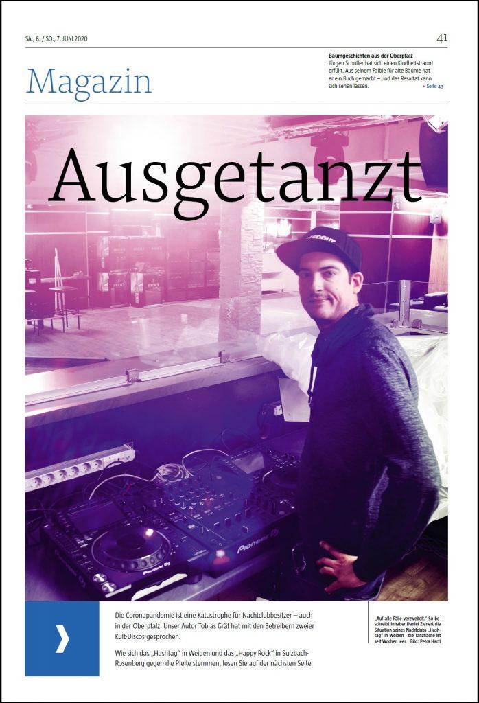Titelseite Magazin DJs in der Oberpfalz
