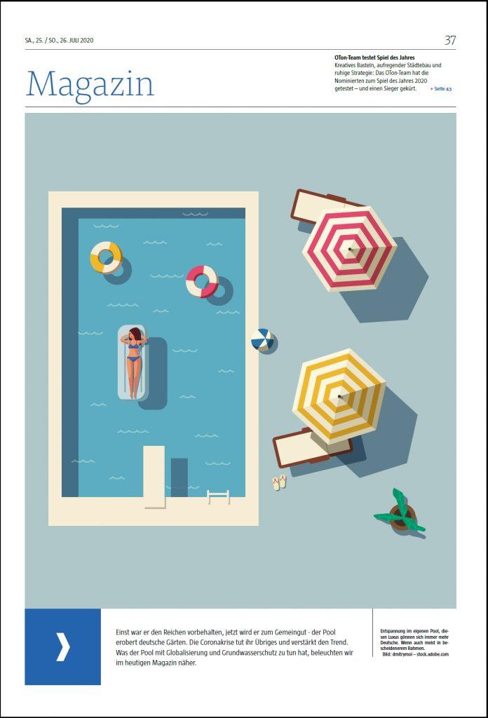 Titelseite Magazin Poolgrafik
