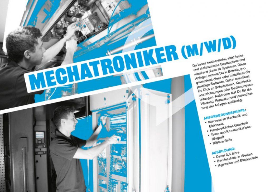 Mechatroniker im Azubi-Flyer