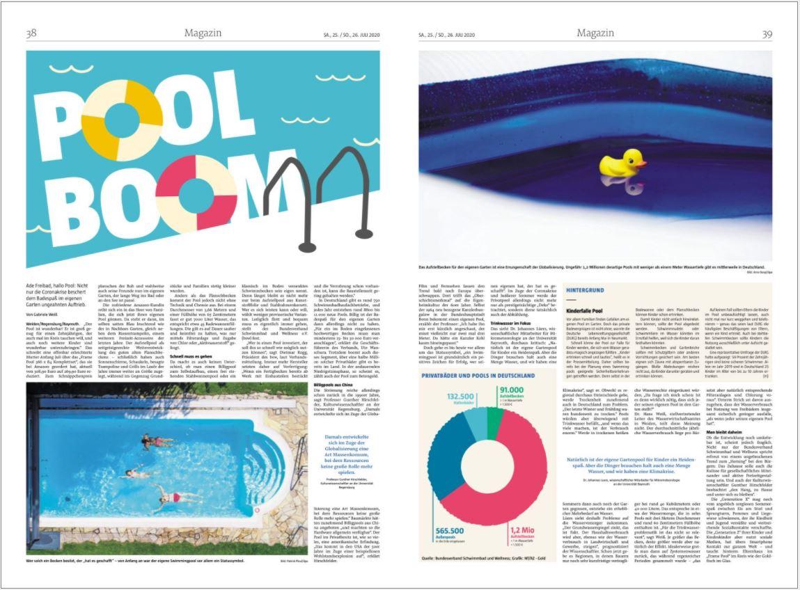Doppelseite Magazin private Pools
