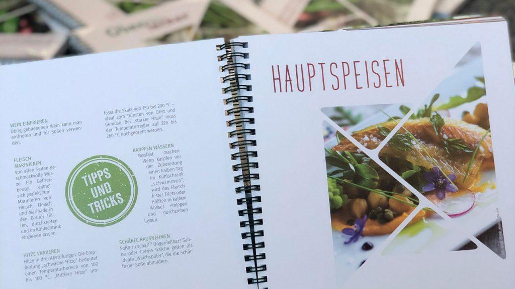 Einblick in Kochbuch Hauptspeisen-Seite