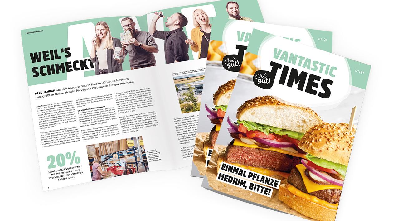 EInblick in das Magazin Vantastic Times