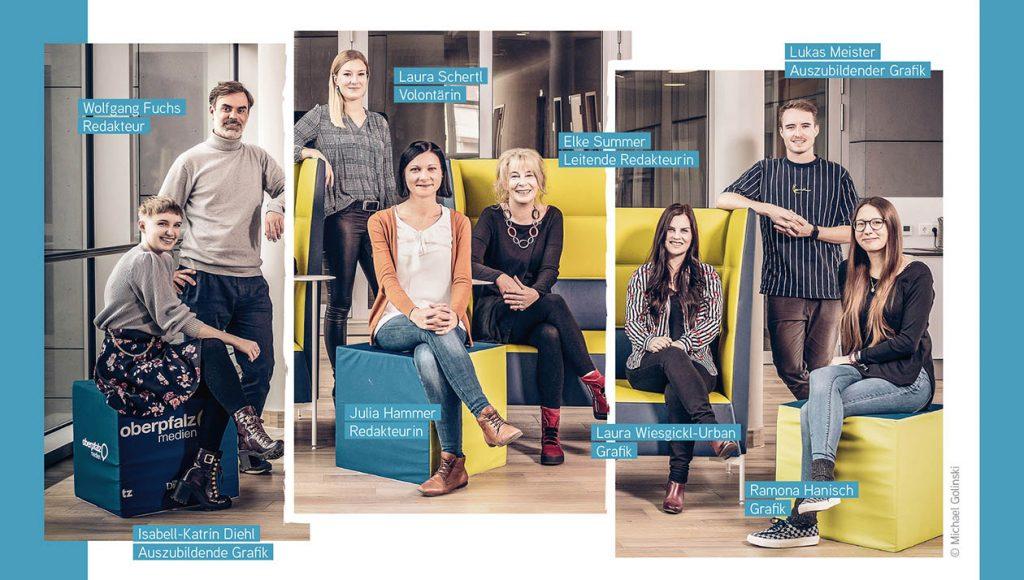 Das Gestaltungs-Team von Oberpfalz Medien